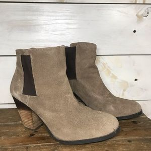 Vince Camuto | Taupe Hess's Suede Booties